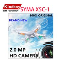 Wholesale New Upgrade SYMA X5C X5C GHz CH with HD Camera Axis RC Helicopter Quadcopter Gyro GB TF Card with MP Camera
