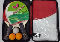 Wholesale Factory Direct Sale SHUANGDIE knife hold Pimples In Table Tennis Raquets sets Attached with balls and Racket case