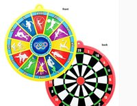 Wholesale Cartoon Magnetic Side Dartboard Darts Kids Child Toy Gift Party Home Game