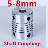 Wholesale 4pcs x8mm flexible coupling shaft couplings OD19mm mm flexible shaft mm mm for cnc parts stepper motor