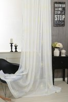 Wholesale 2016 New room divider curtain yarn Room Floral Tulle Curtain Window Door Balcony Lifting Sheer Curtain Room Decoration wp018