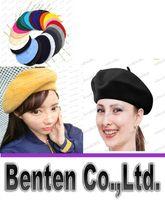 Wholesale Wool Warm Women Felt French Beret Beanie Women Hat Cap Tam Ladies Hats Girls Berets LLFA61
