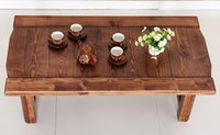 antique wooden benches - Vintage Wood Long Table Foldable Legs Rectangle cm Living Room Furniture Asian Antique Style Bench Low Coffee Table Wooden