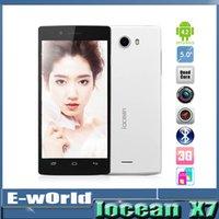iocean X7 HD 5,0 pulgadas IPS HD MTK6582 Quad Core Android del teléfono celular 1GB RAM 8GB ROM 8.0MP 3G Android 4.2 GPS