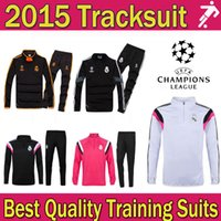 sports jackets - Cheap real madrid tracksuit UEFA chelsea Champions League training suit soccer jacket shirt pants sports wear suits