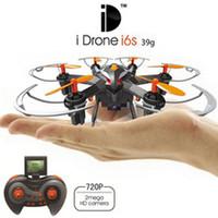 2016 Date 2MP Yizhan Fait Caméra i6s HD Mini Drone 2.4G 4CH 6 axes Headless Survoler hélicoptère RC Caméra Nano Dron