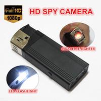 Wholesale 2pcs HD P lighter Hidden spy camera with flashlight lighter spy dv hidden camera supports gb tf card portable candid camera