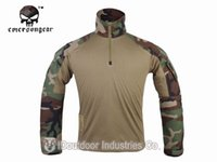 Cheap Wholesale-Hunting Airsoft clothes Emerson Tactical G3 shirt Combat Military tshirt EM9278 Woodland
