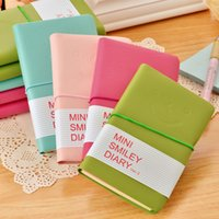 Wholesale 6pcs Cute Notebook Creative smile girl Agenda week plan Diary Day planner journal record stationery office School supplies