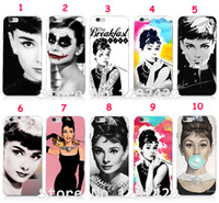 audrey hepburn - 10pcs Audrey Hepburn Hard Skin White Case Cover for iPhone iphone plus and retail free shiping