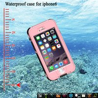Custodia impermeabile per iPhone 6 6plus Nuoto Surf caso Sub 6 metro di impronte digitali touch ID Shockproof antipolvere resistente Dirt impermeabile