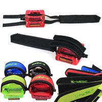 Wholesale 2015 New Arrival Fixed Gear Fixie Bike Bicycle Double Velcro Nylon Clip Pedal Toe Strap Belt LB