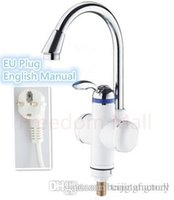 Wholesale EU Plug sec Instant Hot Water Tap Heater Electric Electric Water Faucet Tankless Water Heater Shower Hot And Cold Dual Use3000w A3