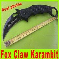 Folding Blade   2014 Black Edition Fox Claw Karambit G10 Handle Folding blade knife Outdoor gear EDC Pocket Knife camping knife knives High quality 381X