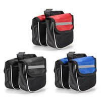 Wholesale 3 Colors Cycling D Polyester Road MTB Bicycle Bike Frame Saddle Bag Pannier Front Tube Bags Double Sides order lt no track
