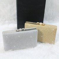 beaded purse kit - Vintage Wedding Bridal Ladies Crystal Rhinestone Swarovski Stain Beaded Evening Clutch Bag Handbags Metal Hard Box Envelope Purse Makeup Kit