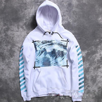 Wholesale fashion brand men kanye west off white Virgil Abloh pyrex hoodie flannel clothing wave print religion hoody Sweatshirt Moletom