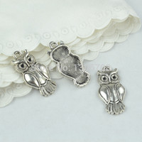 Wholesale Fashion Jewelry Charms metal tibetan silver charms owl pendants hand made supplies fit jewelry making mm Z42804