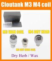 Cheap CLONE Cloutank Rebuildable Atomizer coils for Cloutank M2 M3 M4 Dry Herb Wax herbal vaporizers pen e cigarette Replacement coil head FJ030
