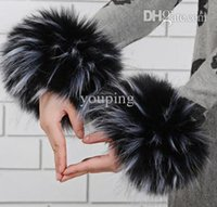 arm candy bracelet sets - New Fashion Faux Fur Bracelet Women s Winter Longhaired Warm Arm Warmers Candy Color Good Quality Women Arm Warm Sets
