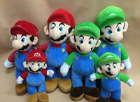 Wholesale 20pcs inches cm NEW SUPER MARIO BROTHERS PLUSH MARIO AND LUIGI DOLLS mario and luigi plush doll toys