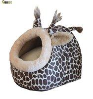 Cheap Umiwe Deer Shape Cozy Puppy Kitten Pet Dog Cat Cotton Bed Nest Cave (Leopard)