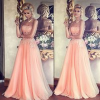 beautiful dresses for teens - Coral Strapless Evening Dresses Vestido De Festa A line Appliques Beaded Illusion Long Prom Gowns Beautiful Pageant Dresses for Teens Cheap