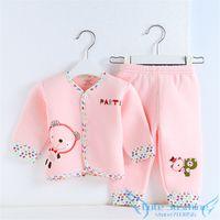 baby sleepsuits - set New Coming Newborn Baby Underwear Set Cotton Cute Bear Unisex Infants Nightgowns Baby Sleepsuits