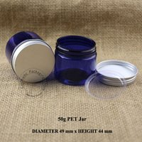 Wholesale 50g D49XH44mm Facial Cream Jar Eyeshadow Cosmetic Packaging Makeup Cream Container Portable Cosmetic Empty Jar Pot
