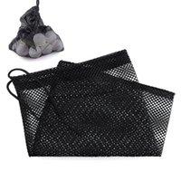 Wholesale Black Nylon Mesh Nets Bag Golf Tennis Balls Holder Hold Ball Storage Closure Durable