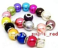 Wholesale mixed Beautiful Acrylick Pearl Bead Fit European Charm Bracelet Necklace