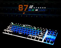 Wholesale Team Wolf Mechanical Keyboard Mix Color Led Backlit Light Modes Keys Wired Gaming or Office Keyboard Black Switch