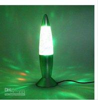 Wholesale USB Rocket Lava Lamp seven color change Silver