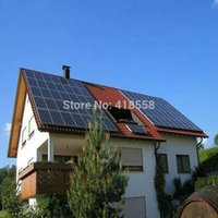 Wholesale solar system for home KW grid tie system mono solar panel w and kw on grid inverter all components include