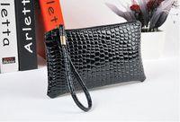 Soporte de la bolsa de la venta caliente mujeres Monedero Mini bolso de la señora de embrague de cuero plegable pequeña bolsa para el iphone 5 6 Plus libre de la nave