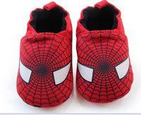 Wholesale Baby Fist Walker Shoe Toddler Cotton Shoes with Soft Anti Slip Bottom Elastic Heel Never Spider Man kids ballet flats