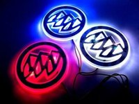 auto car sticker - Buick LED Logo Light Car Badge Blue Red White D Auto Sticker Light Rear Emblem Lamp Waterproof Anti Dust Size CM Available