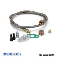Wholesale TANSKY quot TURBO OIL INLET FEED LINE FITTING FOR TURBO TURBOCHARGER KIT T3 T4 T25 T28 TK WXB03IN