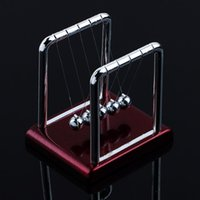balance ball - Hot Pc Early Fun Development Educational Desk Toy Gift Newtons Cradle Steel Balance Ball Physics Science Pendulum