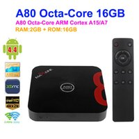 Wholesale DHL CX X8 Smart tv box Allwinner A80 Octa Core GB GB AP6330 Wifi XBMC TV Receiver Airplay Miracast DLNA CX X8 Android TV Box