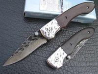 Wholesale High carbon stainless Handmade Damascus Custom Forged Steel Pocket Folding Knife B24