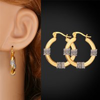 Wholesale Round Earrings For Women Platinum K Real Gold Plated Tone Plated Basketball Wife Fashion Jewelry Hoop Earrings E989
