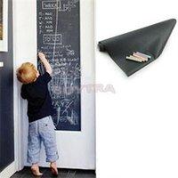 Wholesale 1 Kids Vinyl Chalkboard Wall Stickers Removable Blackboard Decals Kids Great Gift CMx200CM Pizarra Etiqueta De Pared ZT