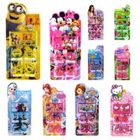 rubber stamps - 120sets minions stamp childrens cartoon stationery pattern stamp sets big hero Sofia KT cat Cinderella Action Figures kids toys HX
