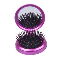 Wholesale Woman Mirror Comb Set Portable Cosmetic Make Up Lady Fold Pocket Mirror Christmas Gift ZXW3