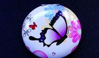 Wholesale 2015 New cosmetic pocket mirror makeup printing compact mirror DROP SHIPPING HZJ