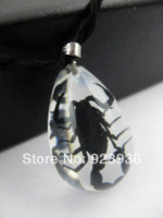 amber scorpion necklace - Real Scorpion Resin Amber Necklace Pendant Trendy Jewelry Novel Souvenir novelties Give Away