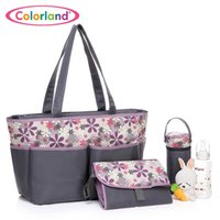 baby changing bag pattern - Tote Baby Changing Bag Multi Function Mommy Handbag Fashion Baby care Seperate Package Large Capacity Flower Pattern Colorland