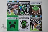 2016 nouveau mur de minecraft autocollants Collage Affiche Minecraft Caractères Chambre Classique Réglage Décoration 120pcs d'affiches