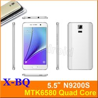 Android Quad Core 512MB N9200 n9200s Quad Core MTK6580 5.5 inch Android 4.4 Dual SIM 3G WCDMA Unlocked Smartphone Mobile phone Gesture wake Free case DHL 3pcs